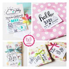 Geschenke verpacken mit selbstgemachten Karten, einfach immer wieder toll <3 #naehfein #geschenke #verschenken #karte #handlettering #verpacken