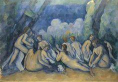 Bathers (Les Grandes Baigneuses)  about 1894-1905, Paul Cézanne