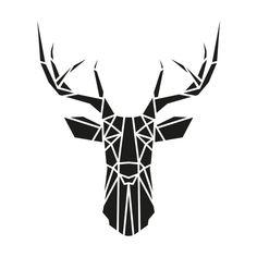Deer Head Pallet FREE Printable Silhouette