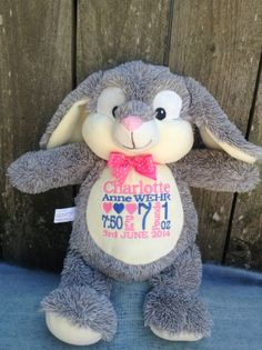 Personalized Baby Gift Monogrammed Baby Gift  Embroidered Easter Bunny PERSONALIZED by World Class Embroidery.