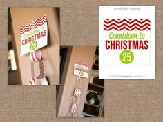 Christmas Countdown Paper Chain - Great Craft for Kids - Free Printable via The TomKat Studio #holidayentertaining