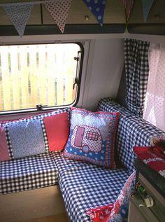 Dutch style + flags caravan