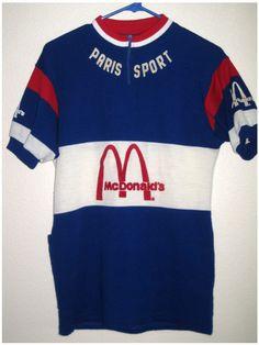 Vintage Paris Sport cycling jersey with McDonalds Sponsor