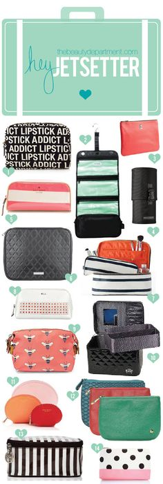 A round up of the best beauty bags for traveling. Hair d211a0633df7f