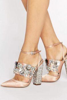These shoes are awesome!!! ASOS PAPAYA Bridal Embellished Heels | wedding shoes | bridal shoes | shoes | women's shoes | heels | shoes for wedding day | embellished heels | cool wedding shoes | eccentric wedding shoes | funky | #ad #asos #embellished #heels #weddingshoes #weddings #bridal #bridalshoes #weddingday #papaya