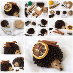 DIY Coffee Bean Hedgehog