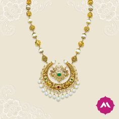 Look more gorgeous wearing this traditional gold necklace with a crescent-shaped centerpiece, like a glowing moon in a pitch black night. Your beauty is uniquely yours. Our centerpiece merely accentuates it like never before.