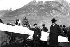Quelques mois plus tôt, l'aviateur suisse Oskar Binder était le premier à réaliser l'exploit. © Archives Le Soir.