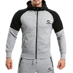 Sports Hooded Fitness Jogging Running Zip Up Hoodies