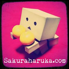 #Danboard wishes you a Happy CNY with oranges! | #danbo #revoltech #yotsuba #anime #toysphotography