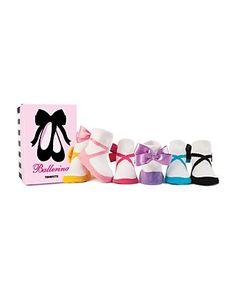 Trumpette Infant Girls' Ballerina Socks, Set of Six - Size 0-12 Months | Bloomingdale's#fn=spp%3D7%26ppp%3D96%26sp%3D3%26rid%3D95%26spc%3D524