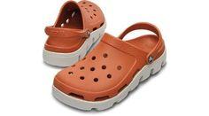 Crocs Adult Duet Sport Clog, Sienna/Pearl White-Men's 6 crocs. $50.00
