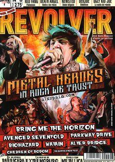 Revolver España, noviembre 2013 (avenged sevenfold, a7x, m. shadows)