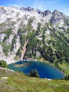 Doubtful Lake, from Sahale Arm, Cascade Pass, North Cascades National Park, Washington