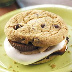 This chocolate chip cookie smore will really bring Yogi to your campsite!