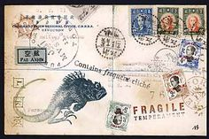Nick Bantock's mail art. Been a fan for over 15 years. Good stuff!