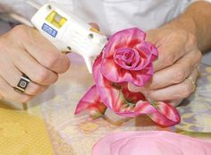 making rose with hot glue....love it!!