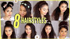 8 Spring/Summer Hairstyles For Naturally Curly Hair! by Lana Summer – Lockige Frisuren Easy Hairstyles For Kids, Cute Curly Hairstyles, Cute Simple Hairstyles, Summer Hairstyles, Hairstyle Ideas, Vintage Hairstyles, Undercut Hairstyle, Summer Haircuts, 50s Hairstyles