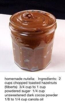 DIY nutella