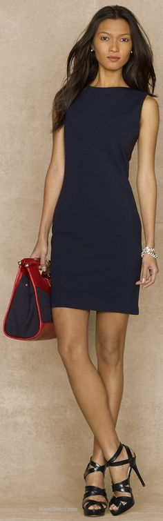 I would like to find a simple navy or maybe royal blue dress that can go from work day to night if I choose.