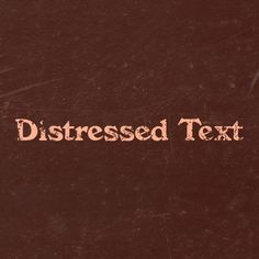 how to distress text in photoshop