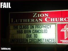 oh, the irony! #epiceventfail