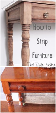 How to Strip Furniture The Easy Way New Simple DIY Furniture Makeover und Transformation Stripping Furniture, Paint Furniture, Furniture Projects, Furniture Making, Furniture Makeover, Cool Furniture, Furniture Design, Furniture Stores, Bedroom Furniture