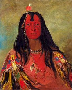 George Catlin, Native American Indian Portrait on ArtStack #george-catlin #art