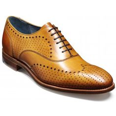 Barker England have been producing some of the worlds finest shoe's for over 130 years and are much sought after by the more discerning of gentlemen. Truman is a striking modern take on the Oxford brogue, featuring a classic wing-tip motif and intricate punch holing throughout. http://www.marshallshoes.co.uk/mens-c1/barker-mens-truman-cedar-calf-brogue-shoe-p2450