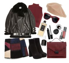 """""""Muted vintage"""" by peachgirl100 ❤ liked on Polyvore featuring Zara, WearAll, Miu Miu, Loeffler Randall, Acne Studios, Marc Jacobs, Serge Lutens, Maybelline, Essie and Bobbi Brown Cosmetics"""