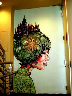 David Choe's work @ Facebook Offices