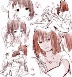 Angel! Frisk and Demon! Chara | Artist Bossmonsterbani (Bani-chan)