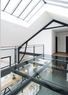 Visite d'une usine rénovée en maison contemporaine