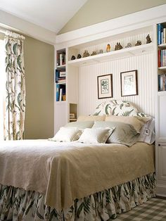 Headboard Shelf Ideas storage ideas around the headboard with custom shelves | ideas for