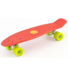 D-Street Skateboard in Red & Lime. We love how the colours complement each other