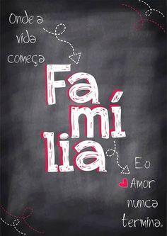 Poster estilo Lousa - Família - Sabrina Matias Lettering Tutorial, More Than Words, Family Love, Motivation, Love You, Wisdom, Positivity, Neon Signs, Thoughts