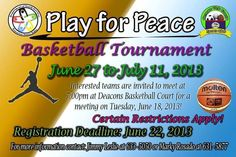 Play for Peace Basketball Tournament