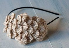 Diademas de crochet: Fotos de originales diseños (7/20)   Ellahoy