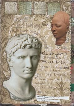 Beauty Is Fleeting - Female Head (Yoruba, c. 1250) and a quite flattering bust of Caesar Augustus