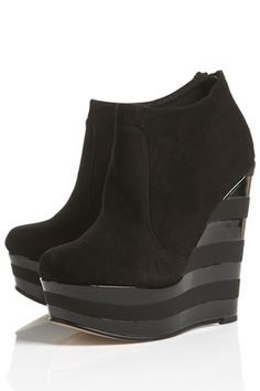 AMAZE2 EVA Stripe Wedge Boots.. Must have this fall!