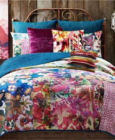 Buy Tracy Porter® Poetic Wanderlust® Leandre Reversible Full/Queen Quilt, Bedding Product from Bed Bath & Beyond Bohemian Bedding, Bohemian Bedroom Decor, Boho Comforters, Bohemian Quilt, Tracy Porter, Shabby, Quilt Bedding, Bedding Sets, Chic Bedding