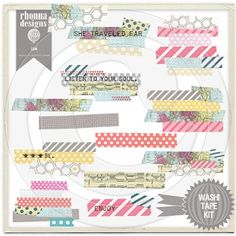 Would love if these were real tape.  Love the pattern and would be fun to dress up brown craft paper for a client or gift