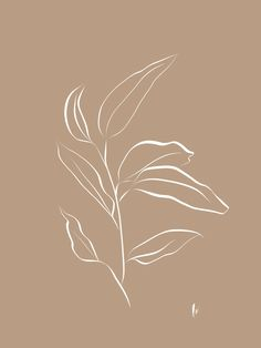 Leaf Stem: Botanical Print (White and Brown) Art Print by Lindsay Shapka Art - X-Small Aesthetic Backgrounds, Aesthetic Iphone Wallpaper, Aesthetic Wallpapers, Brown Aesthetic, Aesthetic Art, Molduras Vintage, Beige Wallpaper, Minimalist Wallpaper, Brown Art