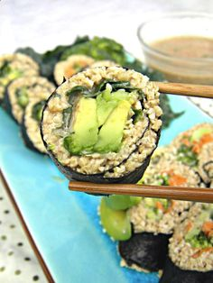 Raw Sushi - Liver Cleansing Raw Food Diet Recipes Learn How To Do A images from Health & Diet Guide Raw Vegan Recipes, Vegan Foods, Diet Recipes, Vegetarian Recipes, Healthy Recipes, Diet Foods, Eating Raw, Healthy Eating, Healthy Liver