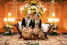 Our Javanese styled wedding reception *with not so formal pose ;)*