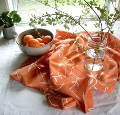 batik floursack towel pale rust orange by margotbianca on Etsy, $20.00