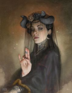 'The Morrigan' - One of the works from the 'Black Lodge' series that i will be launching on the 1st August. 'The Morrigan', like the rest of the series is a one off print on heavy cotton rag stock, mounted on board, varnished and framed and comes with a COA. Many thanks to Toni Moore for modelling. -