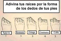 Los pies te dicen de donde provienes