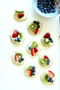 Make fruit pizza cookies - perfect for snack time!