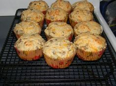 Sausage and Cheese Breakfast Muffins. Made these on 9/8/13 and they are SOOOOO good. I will definitely make them again, but with more cheese for sure, and possibly more sausage. Even my 1 year old likes them.